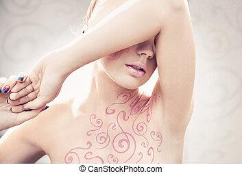 Retrato de una mujer linda