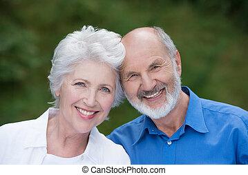 Retrato de una pareja de ancianos