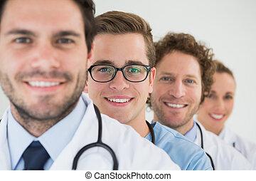Retrato del equipo médico