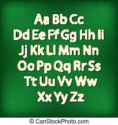 Retro bombilla alfabeto glamuroso alfabeto de teatro. Ilustración de vectores.