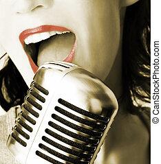 Retro cantante