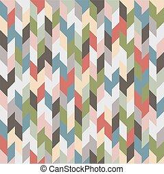 Retro coloreado fondo geométrico sin costura
