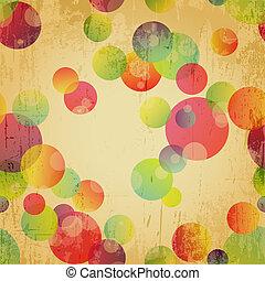 Retro colorido papel tapiz