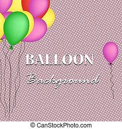 Retro con globos. Ilustración de vectores