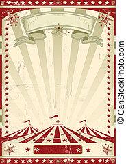 Retro del circo rojo