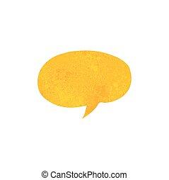 Retro dibujos animados burbuja de habla