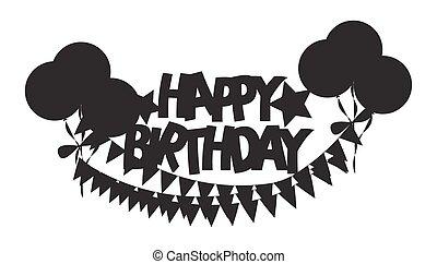 Retro forma de pancarta de cumpleaños