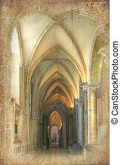 Retro grunge afecta a la imagen del ombligo catedral