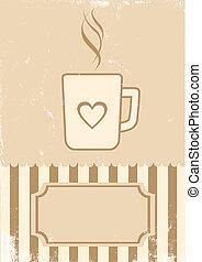 Retro ilustración de café