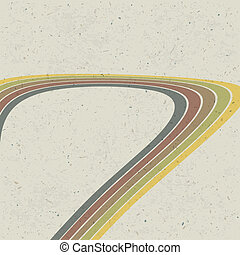 Retro-líneas abstractas. Vector, EPS10