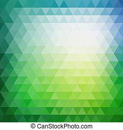 Retro mosaico patrón de formas geométricas de triángulo