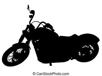Retro moto cuatro