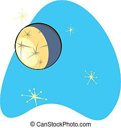 Retro planeta Mercurio