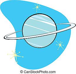 Retro planeta neptune