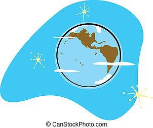 Retro planeta Tierra