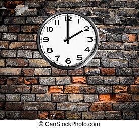 Retro reloj en la pared