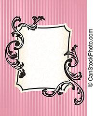 Retrocuadro francés rectangular en rosa