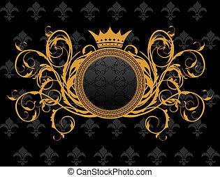 Retroprograma con corona heráldica