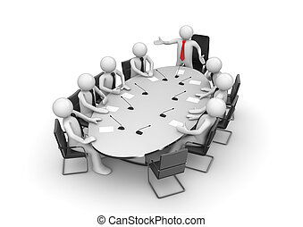 Reunión corporativa en la sala de conferencias