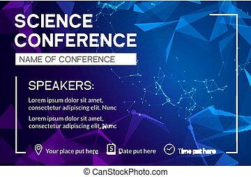 reunión de la conferencia, empresa / negocio, mercadotecnia, template., aviador, publicidad el diseño, folleto, ciencia