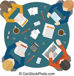 Reunión de negocios a la vista
