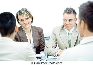 Reunión de negocios aislada