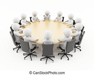 Reunión de negocios en 3D