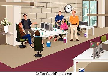 Reunión de negocios informativa