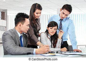 Reunión de negocios juntos