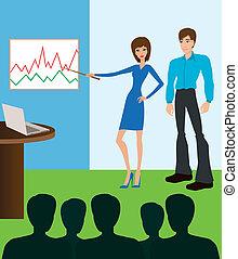Reunión de negocios. Presentación