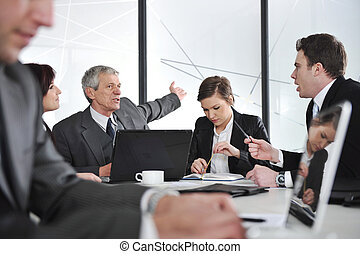 Reunión de negocios y gente trabajadora