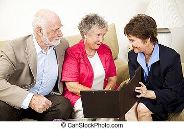 Reunión de ventas en casa