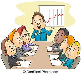 reunión, empresa / negocio