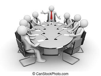 Reunión en la sala de conferencias