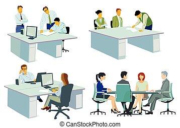 reunión negocio, team-.eps, consejo