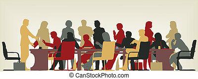 Reunión ocupada