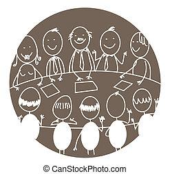 reunión, trabajo en equipo, empresa / negocio