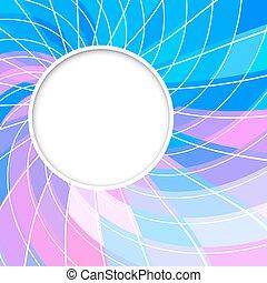 Revisión de vectores abstractos. Encuadre redondo. Forma de círculo. Círculos de color rosa azul