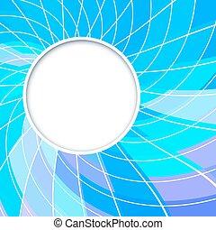 Revisión de vectores abstractos. Encuadre redondo. Forma de círculo. Círculos de color violeta azul.