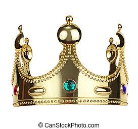 rey, corona, oro