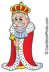 rey, tenencia, cetro