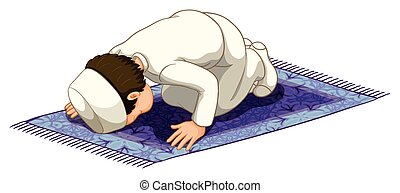 rezando, musulmán