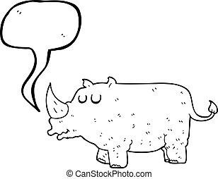 Rhino de dibujos animados de burbujas