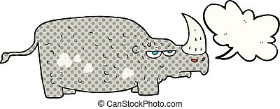 Rhino de dibujos animados de cómics