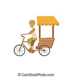 rickshaw de bicicleta india