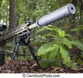 Rifle silencioso