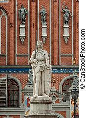 """Riga, capital de Letonia. Vieja ciudad, """"Casa de los Blackheads"""""""