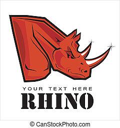 Rinoceronte rojo. Rinoceronte elegante