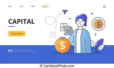 riqueza, capital, concepto abstracto