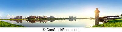 Riverside City Skyline